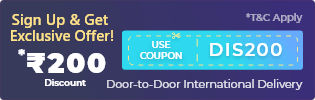 first time international courier discount